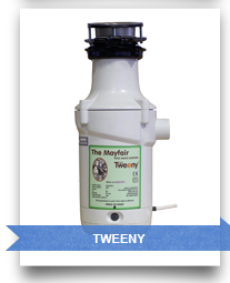 Tweeny waste disposers